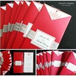 Red Chandelier with Silver Theme Chinese Wedding Card