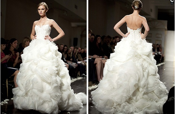 frill style wedding gown