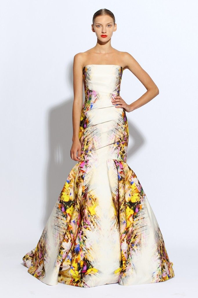 Printed wedding gown
