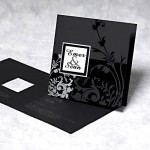 Black & White Theme Wedding Cards